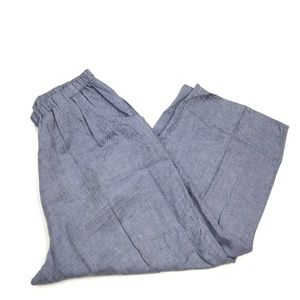 Flax Floods Crop Wide Leg Linen Pants